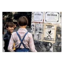 Boys with anti-government posters, August, Radom 1981