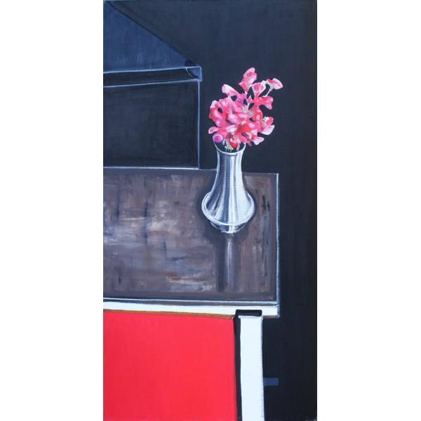 Groszek czerwony na stoliku