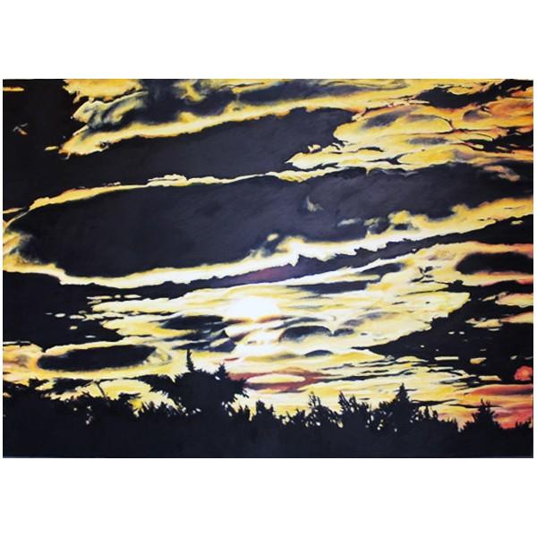Słońce, czarne chmury