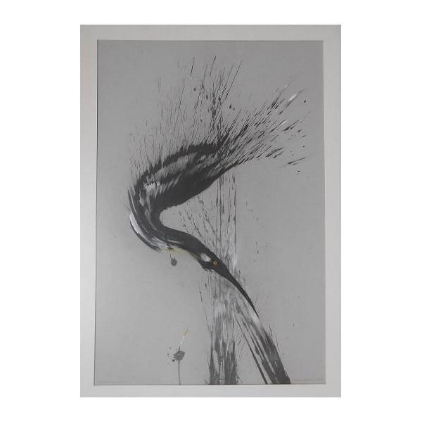 Ptak nurkujący wśród trzcin