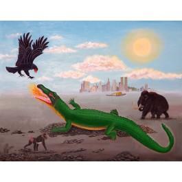 Rozmowa orła z krokodylem